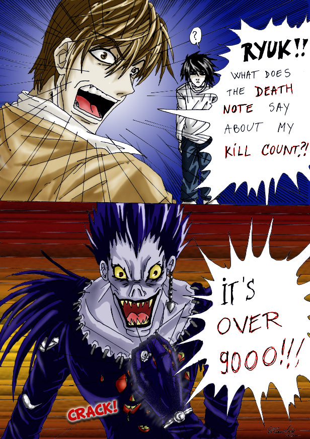 OVER 9000 COLORED by Claudia-C18 on DeviantArt