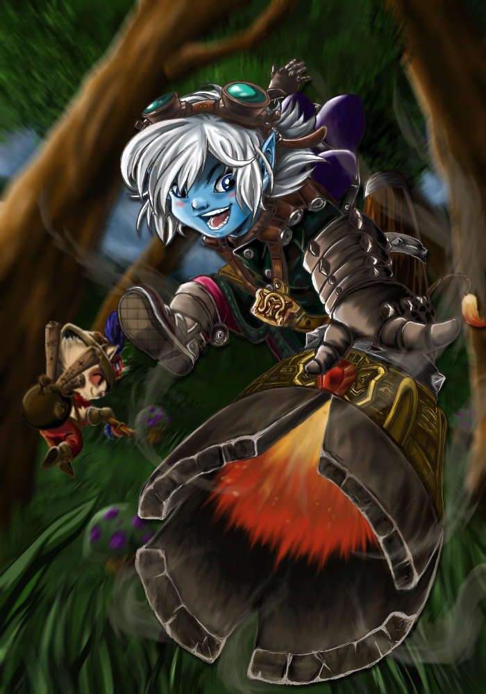 Tristana and her rocket by Claudia-C18