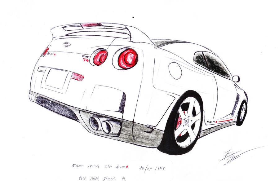 Nissan skyline GT-R 2012 by SamanthaErikArt27