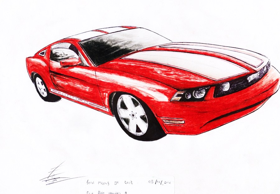 Ford mustang gt 2010 by SamanthaErikArt27