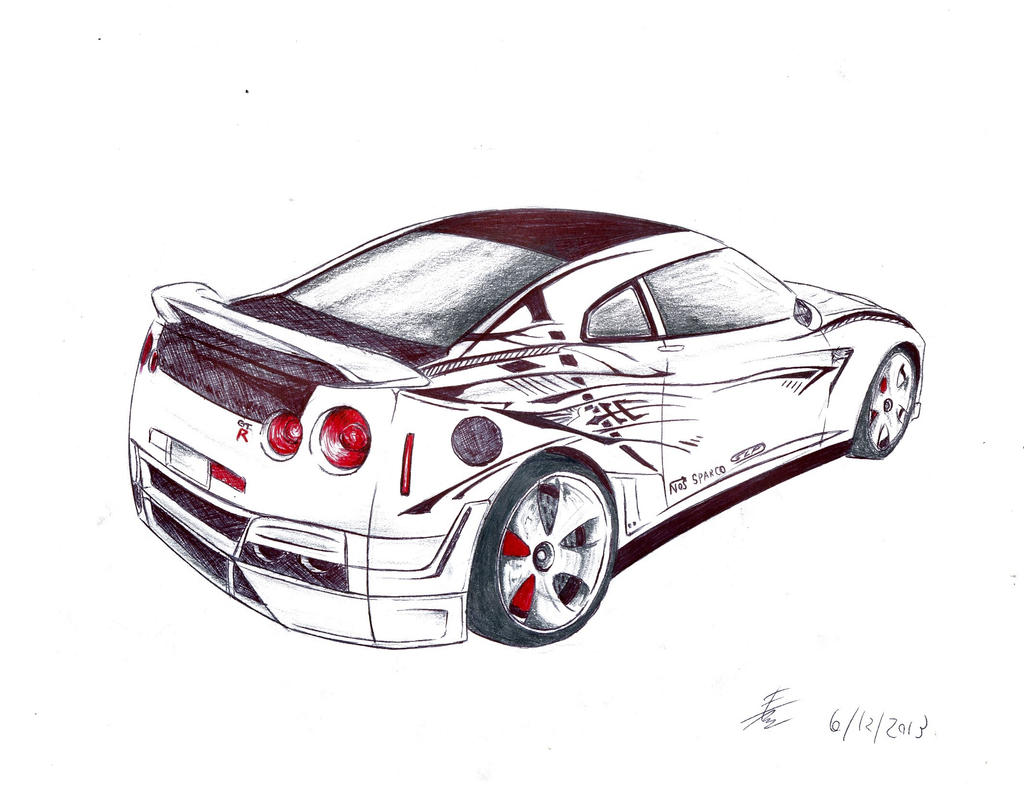Line Drawing Nissan Gtr : Gtr drawings images reverse search
