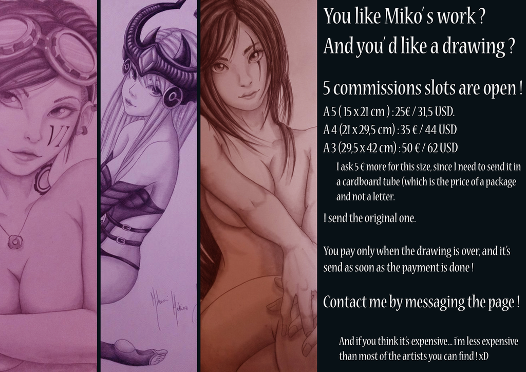 Commissions slots open ! by HokinaCosplay