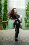 Black leather pants Casual Look