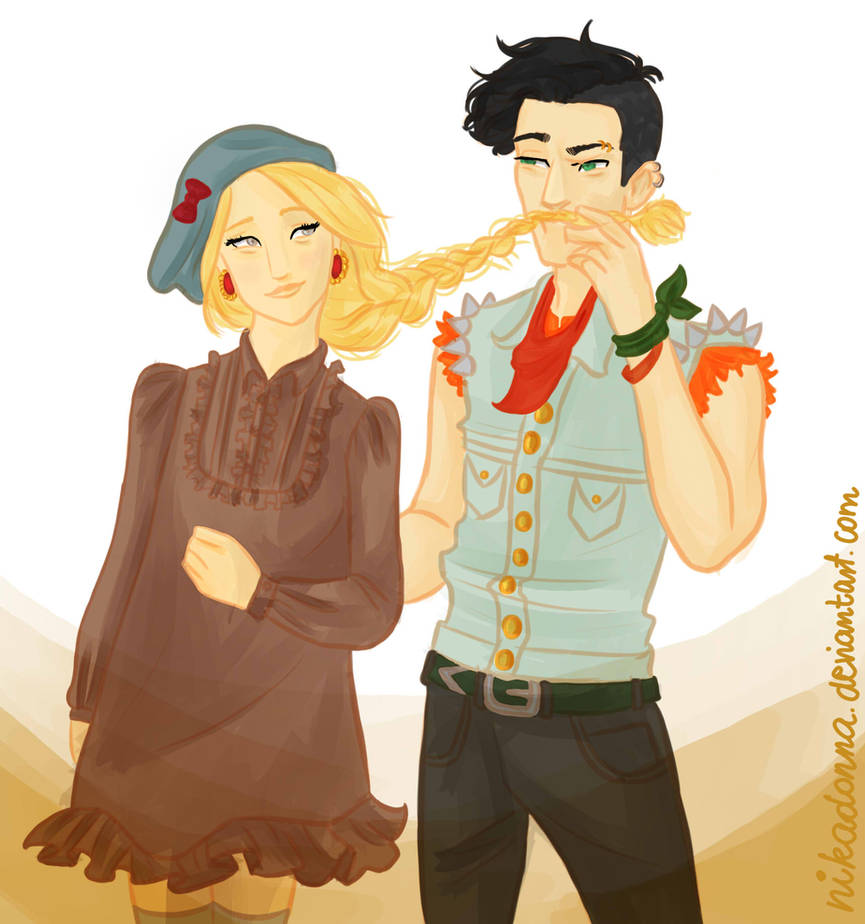 punk!Percy and girly!Annabeth by Nikadonna on DeviantArt