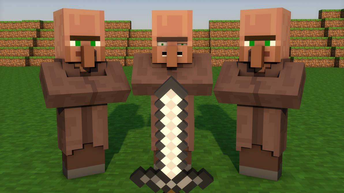 The Three Villagers | Minecraft | Speed Art! by Sawdezk on DeviantArt