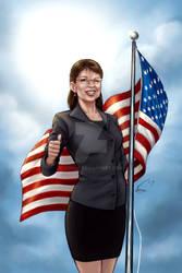 Sarah Palin print by VinRoc
