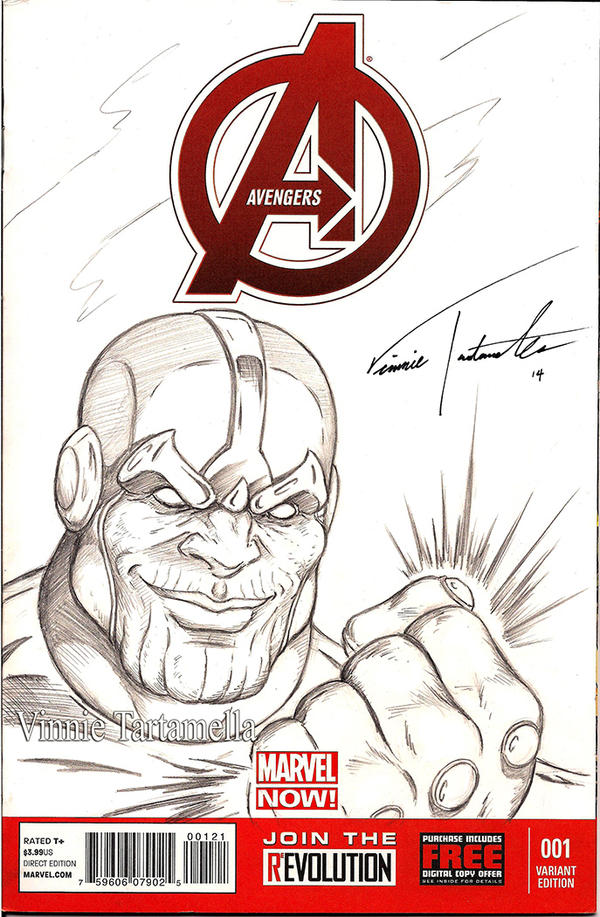 Thanos sketch cover by VinRoc
