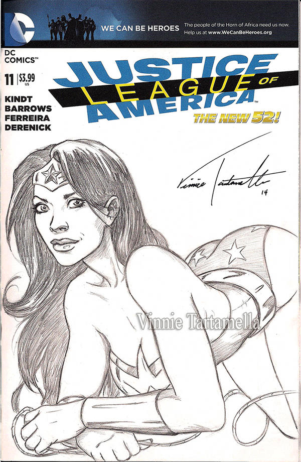 Wonder Woman JLA sketchcover by VinRoc
