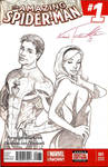Spidey and Gwen sketch cover