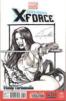 Psylocke sketchcover by VinRoc