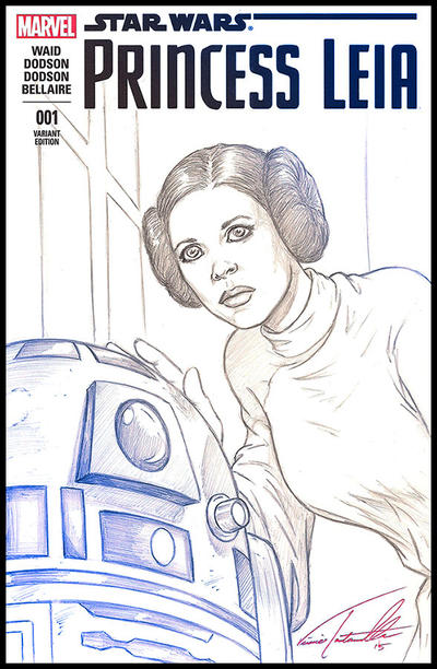 Leia and R2D2 by VinRoc