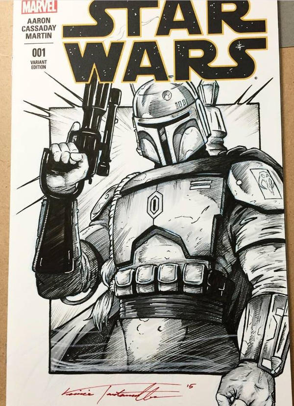 Boba Fett 2 cover by VinRoc