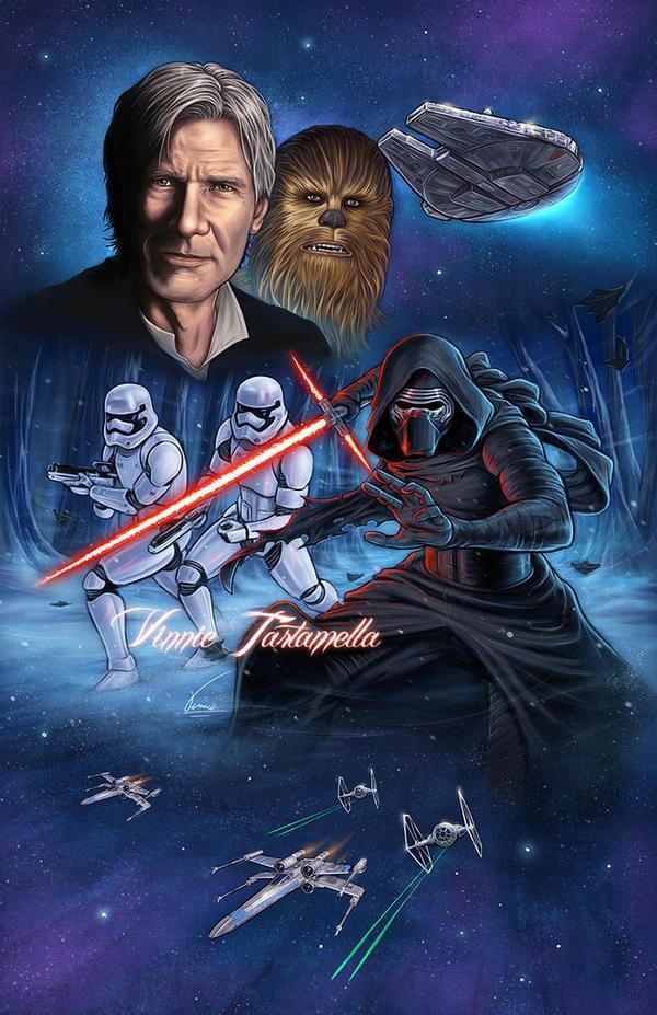 Star Wars Kylo Ren Han Solo by VinRoc