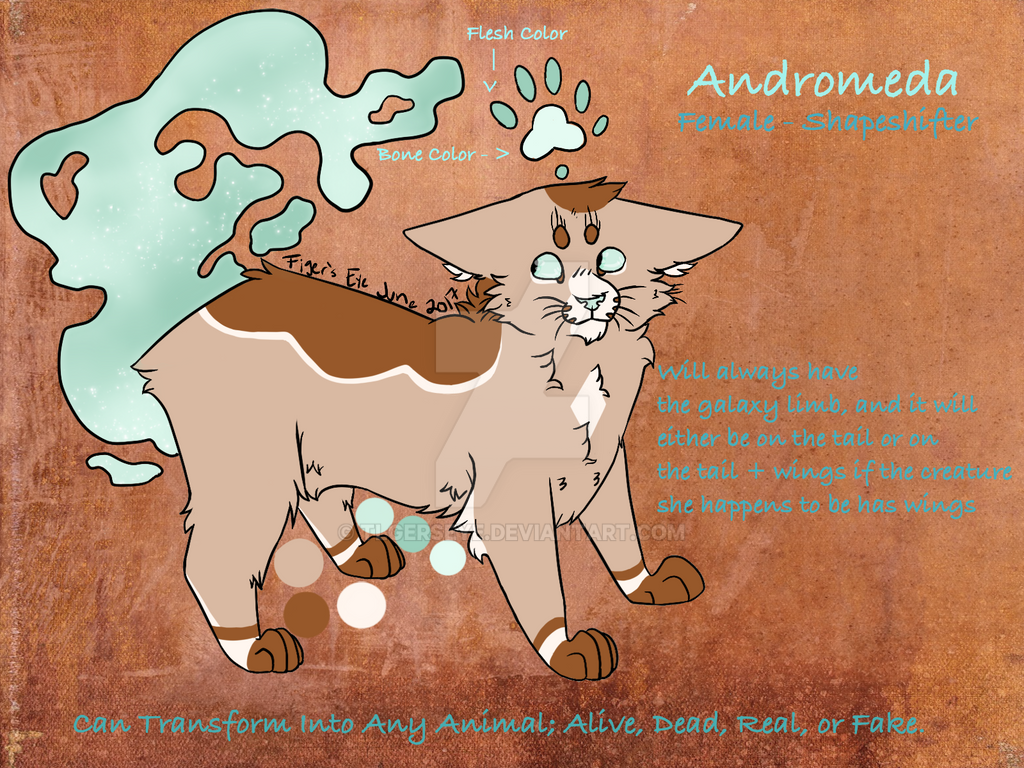 Andromeda Reference Sheet by Tigerpool