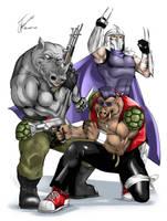 Shredder, Bebop and Rocksteady by Albert217