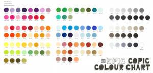Epic Copic Colour Chart by Wolf-Suit