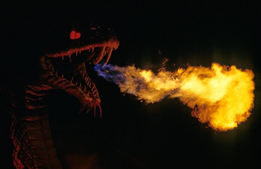 Fire-breathing Dragon by J-Kameko on DeviantArt