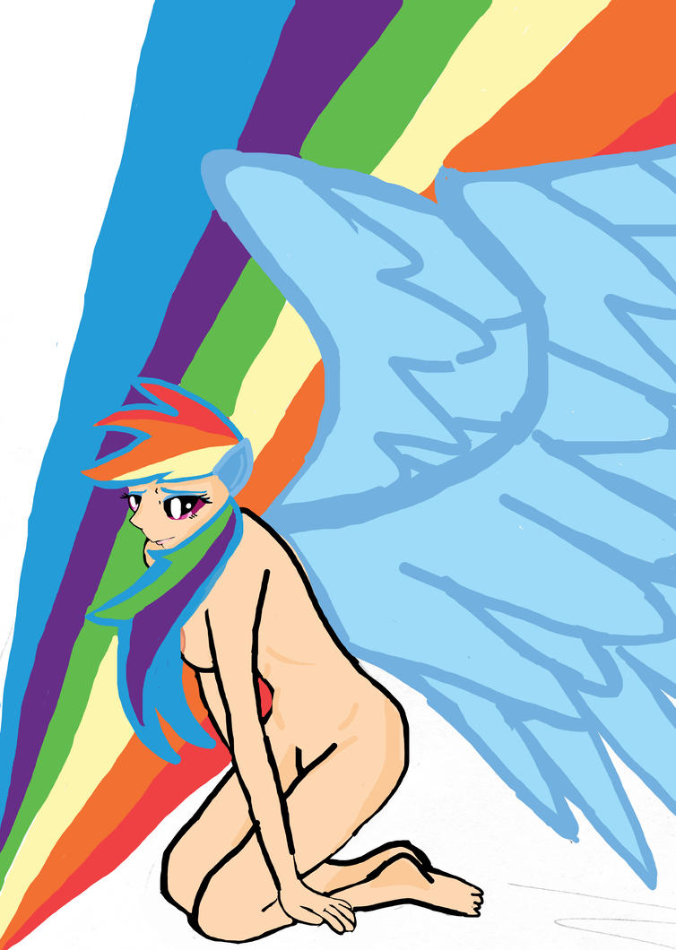 Rainbow Dash the best flyer in Equestria - human by RealityIsRelative