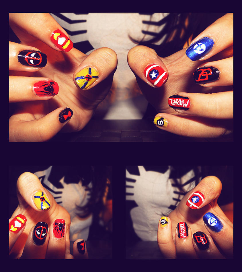 Marvel Nails by KariInlove on DeviantArt