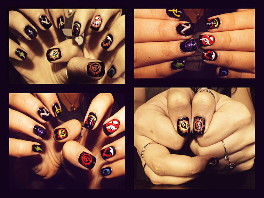 Gamer Nails By Kariinlove On Deviantart