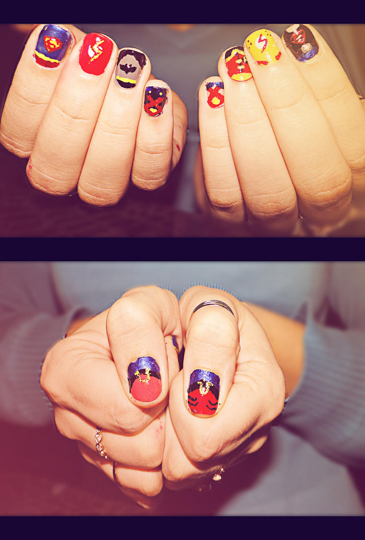 Young Justice and Mentors Nail Art by KariInlove on DeviantArt
