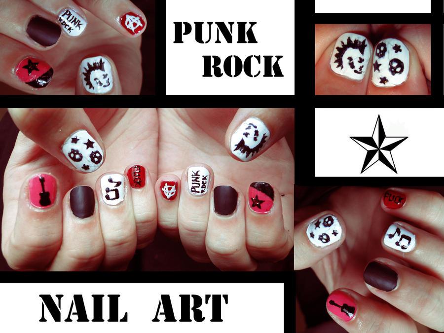 Punk Rock Nail Art By Kariinlove On Deviantart