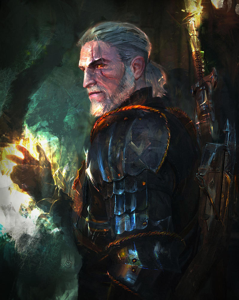 Geralt of Rivia by muratgul