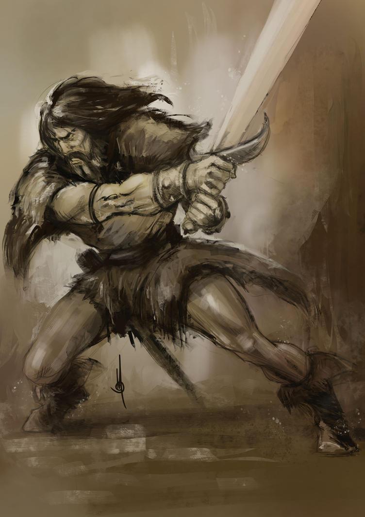 Speedpainting Barbarian by muratgul