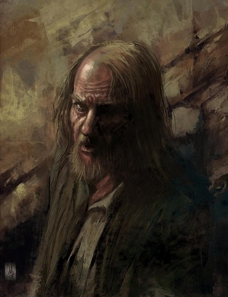 Oldman speedpaint portrait + video by muratgul