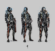 Space Soldier Sketches