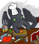 Cooking with toothless