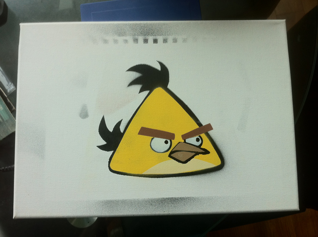 Angry Birds Stencil - Test by Sephorangelus