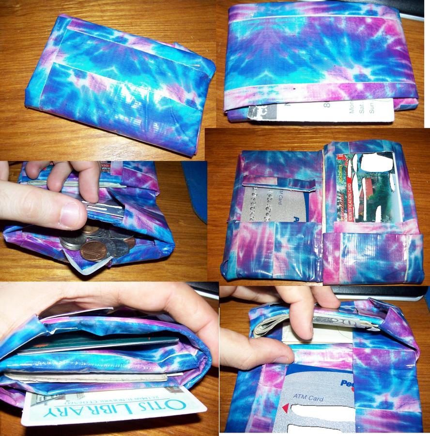 Origami TyeDye DuctTape Wallet by BakaOhki