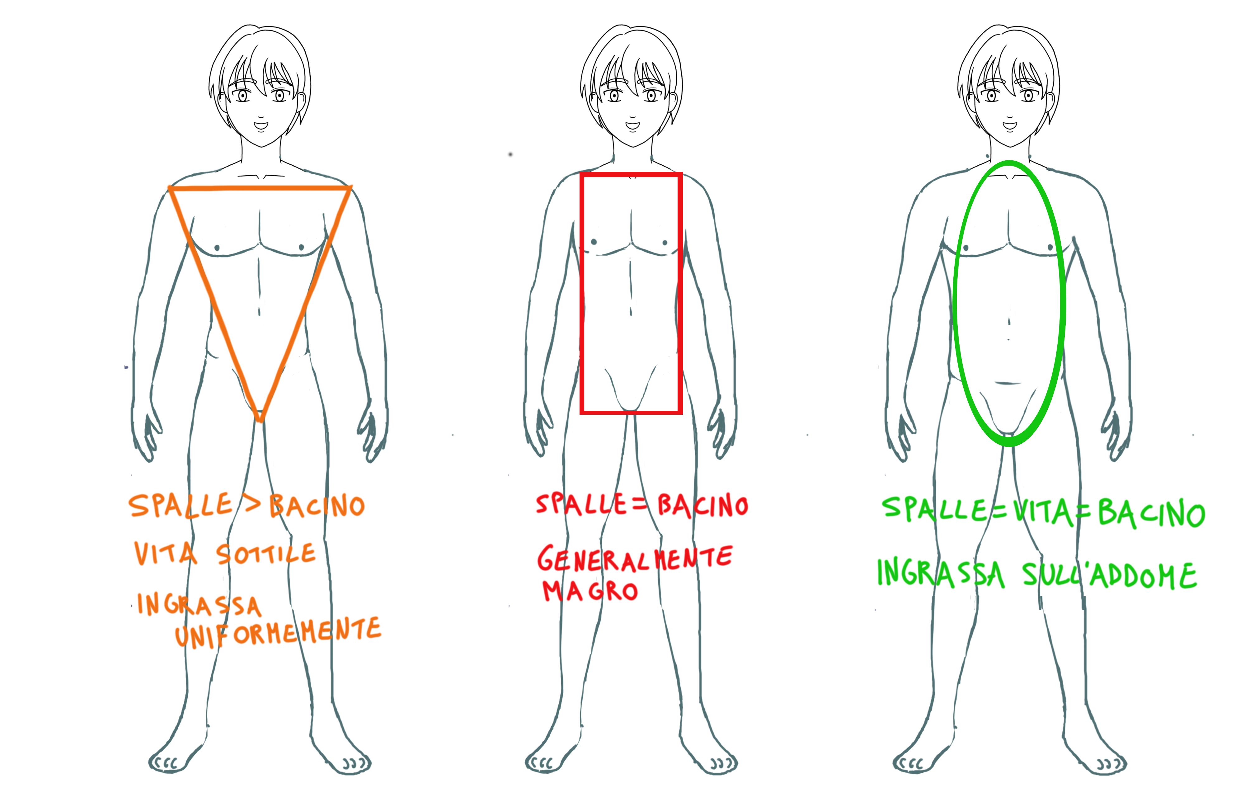 Le tre forme del corpo maschile by kiriaeternalove on deviantart - Disegnare il bagno ...