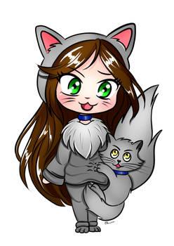 Cat Girl with cat (KIRIA e Norvy)