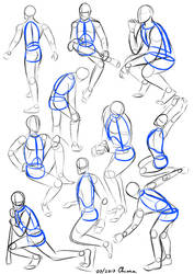 Ten male mannequins (Training) by KiriaEternaLove