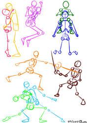 Mannequins Couples: Kissing, Dancing, Fencing... by KiriaEternaLove