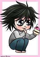 Chibi Ryuzaki/L - Death Note by KiriaEternaLove