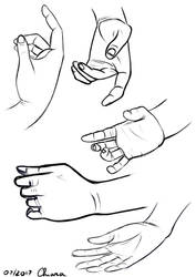 Hand Sketches by KiriaEternaLove