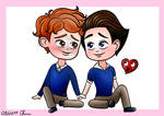 In a Heartbeat (Cute chibi boys couple )