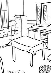 Sketching my Kitchen by KiriaEternaLove