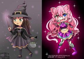 [Collaboration w/Lushia] Lushia the Halloween Cat by KiriaEternaLove
