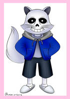 Sans (Norvy Cat Version) by KiriaEternaLove