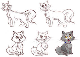 How to draw my OC NORVY the Cat! by KiriaEternaLove