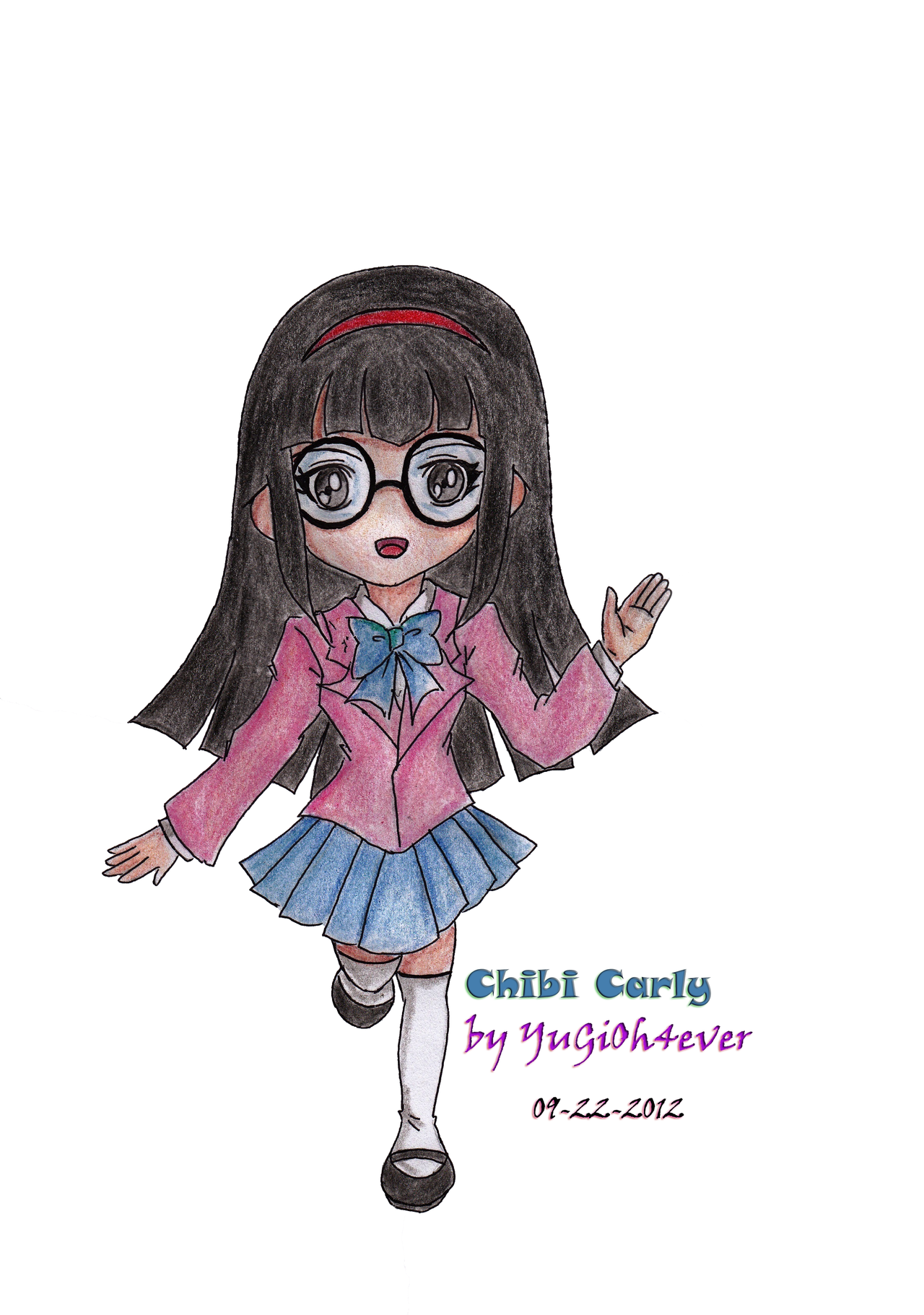 Carly Chibi Domino High Uniform by YuGiOh4Ever