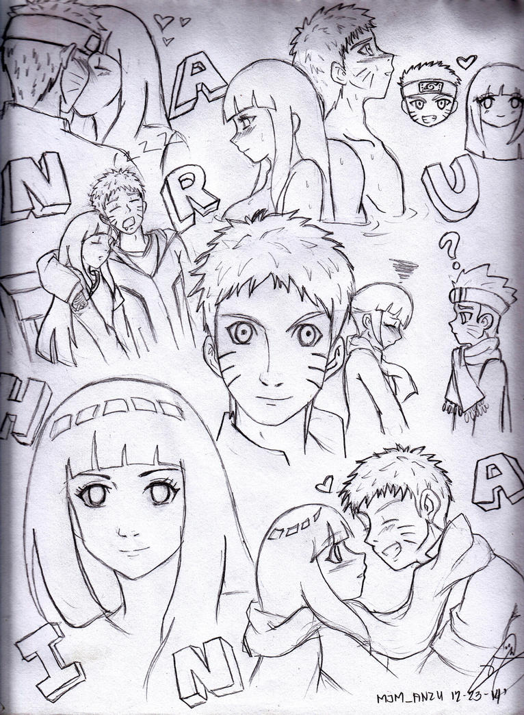 .:NaruHina: Doodle:. by YuGiOh4Ever