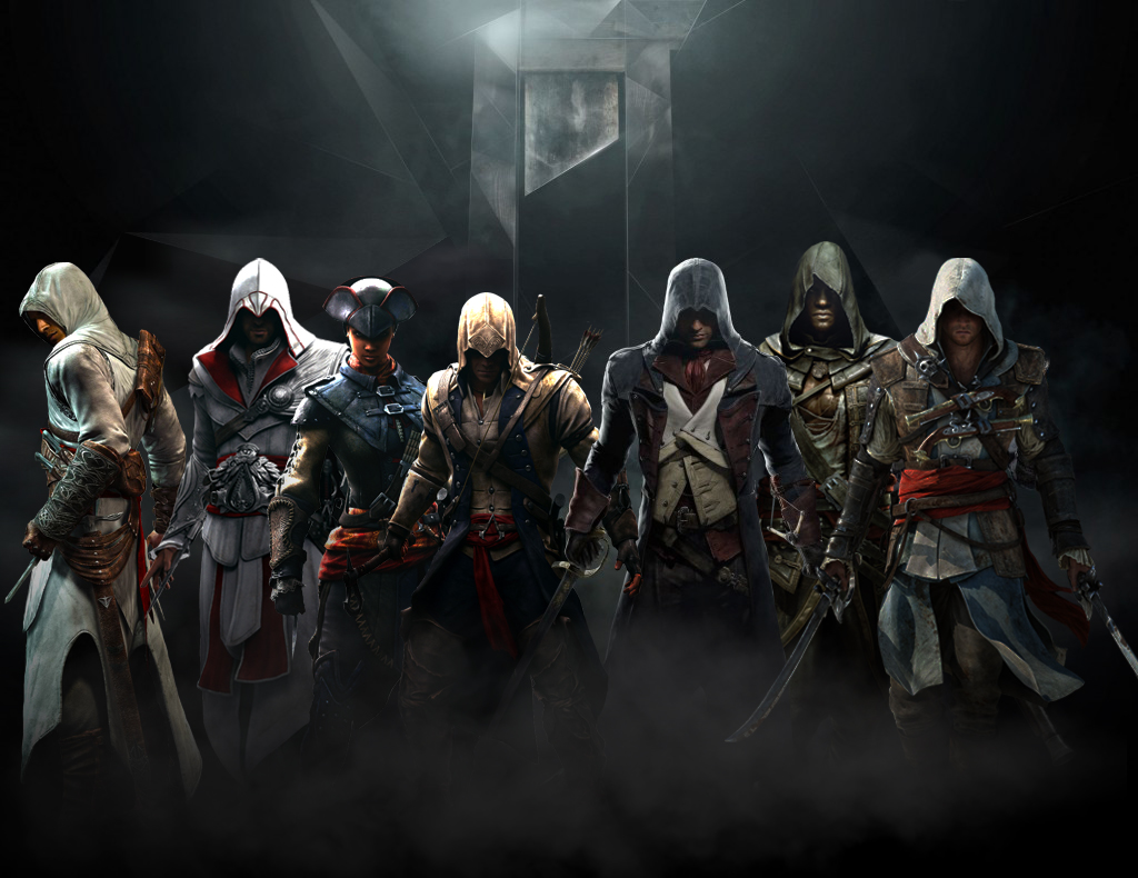 An <b>Assassin'-s Creed wallpaper</b> I whipped up : gaming