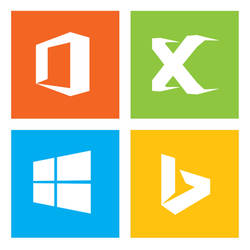 Microsoft family with redesigned xbox logo