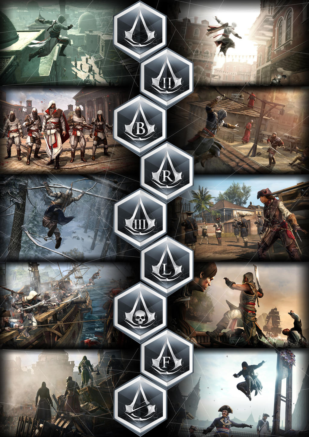 Assassins Creed Poster All Games By Gingerjmez On Deviantart