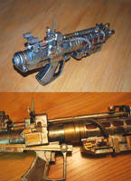 Steampunk Disintegrater Model by pinochioO-5